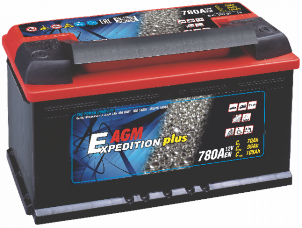 12V 105AH Expedition Plus AGM Leisure Battery-0