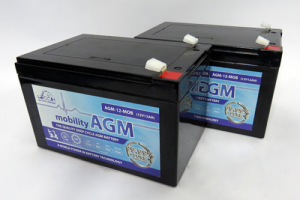 Pair of 12V 15AH Leoch AGM Mobility Scooter Batteries (AGM-15-MOB)-0