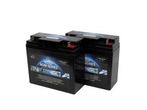 Pair Of 12V Leoch 22AH AGM Mobility Scooter Batteries (AGM-22-MOB)-0
