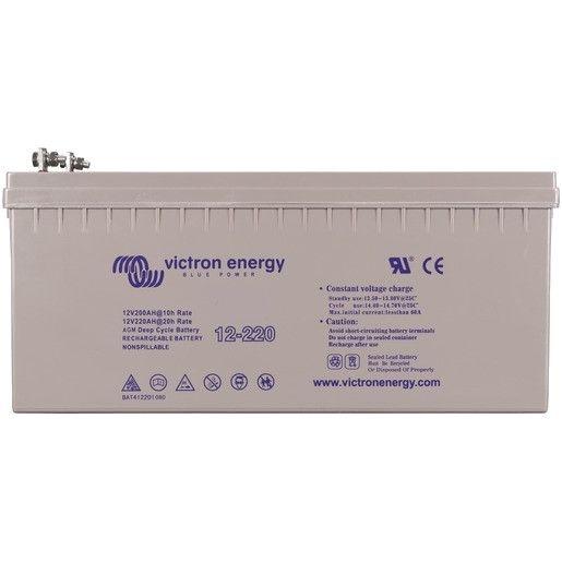 12V Victron Energy 220ah Gel Battery- BAT412201104-0