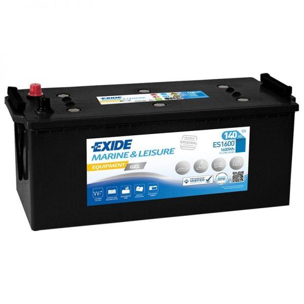 12v Exide 140ah Gel Battery - Es1600 (G140)-0