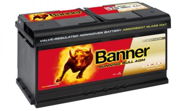 12V 92AH Banner AGM Running Bull Battery (59201) NCC CLASS A-0