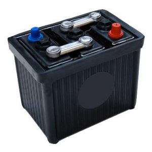 6V 511 Lucas Classic Hard Rubber Car Battery-0