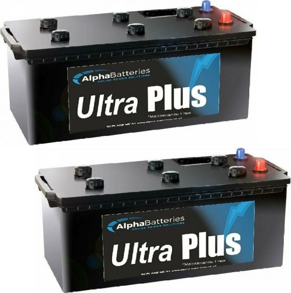 Pair Of Ultra Plus 627 Commercial Batteries-0