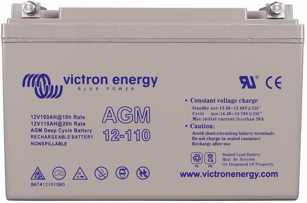 12v Victron Energy 110ah Agm Battery - Bat412101085-0