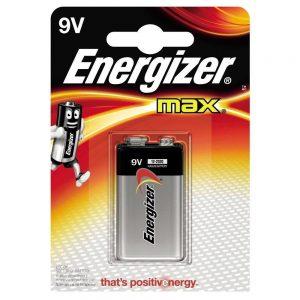 Energizer Max 9V 6LR61 PP3 Alkaline Battery-0