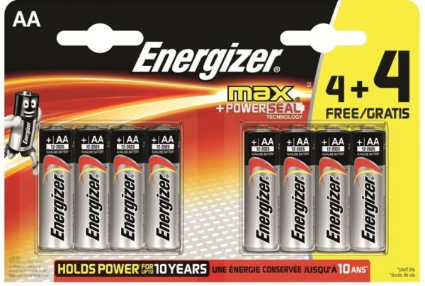 Energizer MAX AA LR6 4+4 8 Pack of Batteries-0
