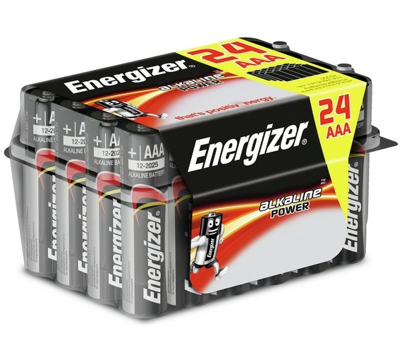 Energizer AAA Alkaline Batteries Family Pack of 24-0