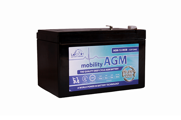Pair of 12V Leoch 12AH AGM Mobility Scooter Batteries (AGM-12-MOB)-1141