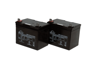 Pair of 12V Leoch 34AH AGM Mobility Scooter Batteries (AGM-34-MOB)-0