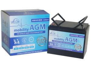 Pair Of 12V Leoch 85AH AGM Mobility Scooter Batteries (AGM-85-MOB)-0