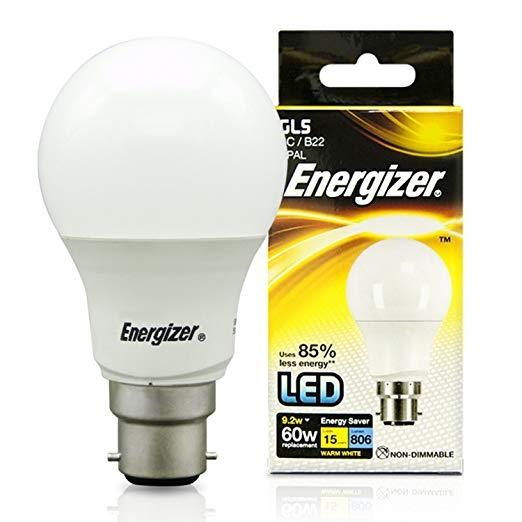 Energizer LED GLS Bulb 9.2W B22 Warm White-0
