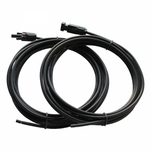 Pair Of 5M Single Core Extension Cable Leads 4.0MM For Solar Panel-0