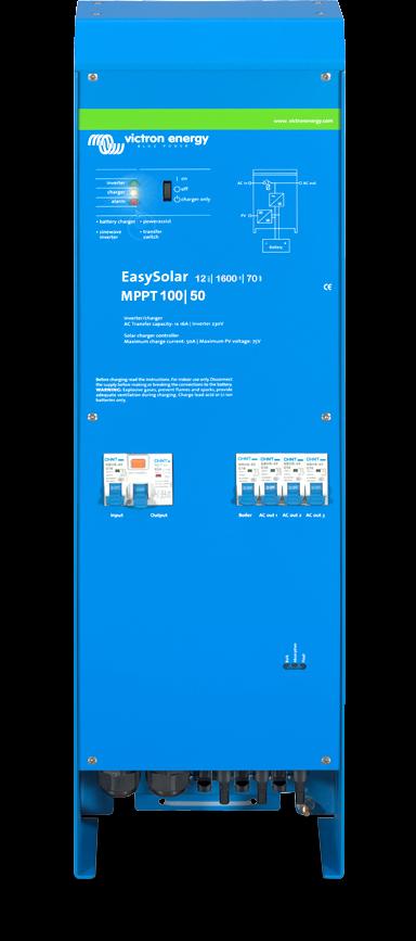12v Victron Energy EasySolar 12/1600KVA/70-16 MPPT 100/50 Inverter/Solar Charging station - CEP121621000-0