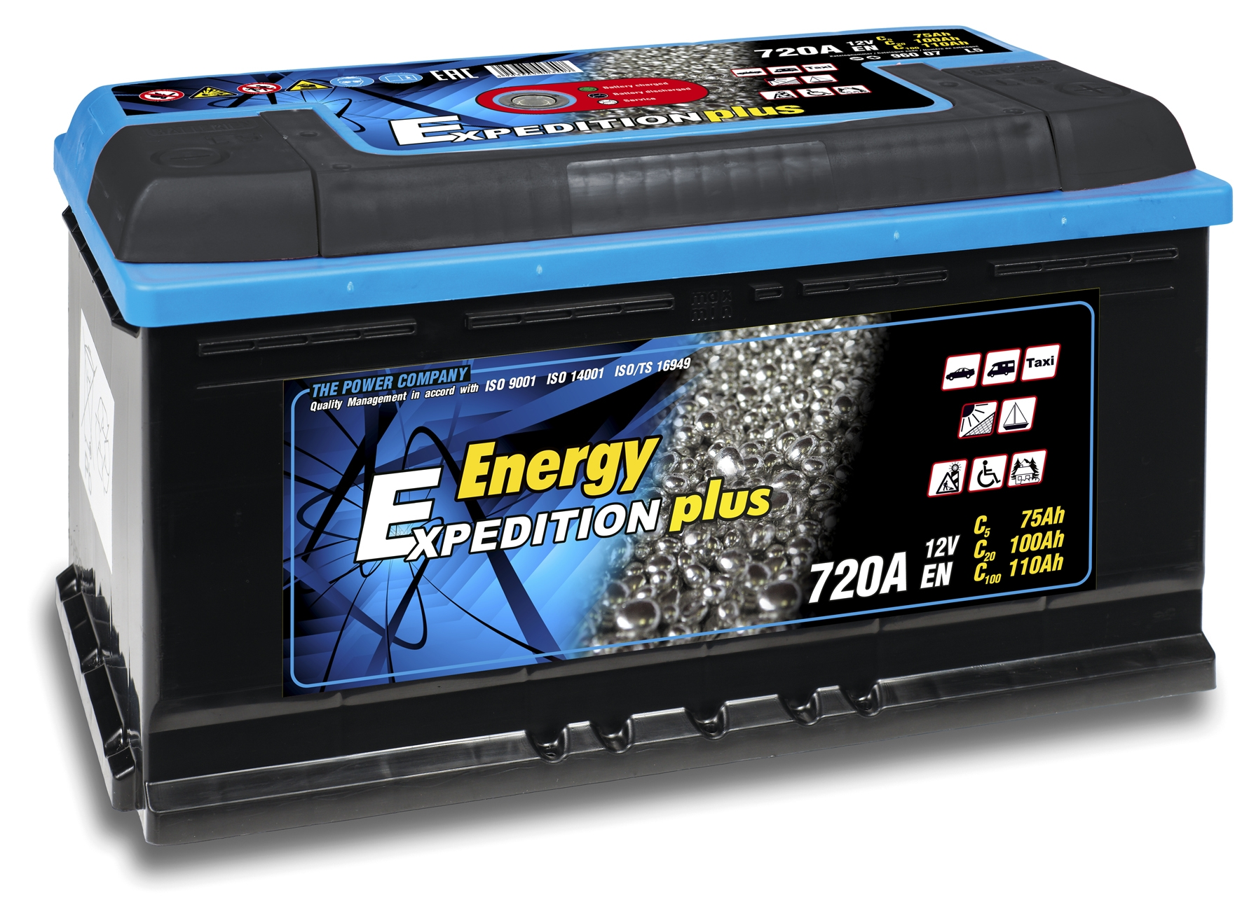 12v 110ah Expedition Plus Semi Traction Leisure Battery