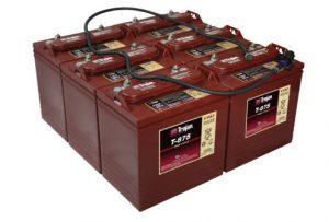 Trojan 8V T875 Golf Buggy Battery Set (6 Batteries)-0