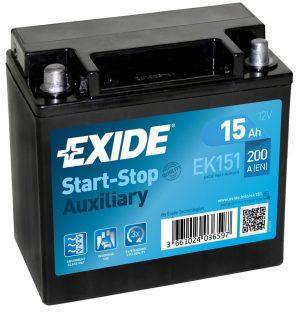 Exide Ek151 Agm Auxiliary Car Battery-0