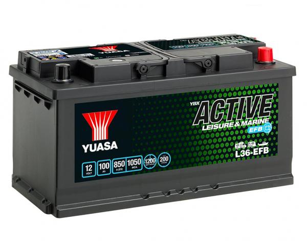 12v Yuasa 100ah EFB Leisure Battery (L36-EFB)-0