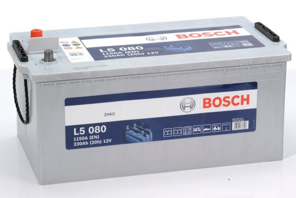 12V 230AH Bosch Silver Powerframe Leisure Battery (L5080)-0