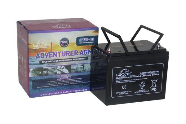 12V 85 AH Leoch Adventurer AGM Leisure Battery (LAGM85)-0