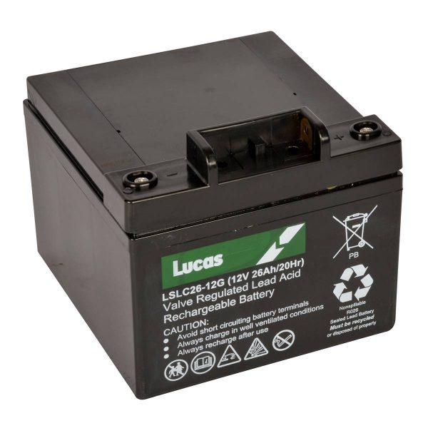 Lucas 26AH Golf Trolley Battery with T-BAR-0