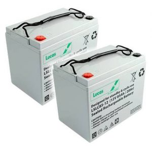 Pair of 12V LUCAS 85AH Mobility Scooter Batteries (LSLC12-85)-0