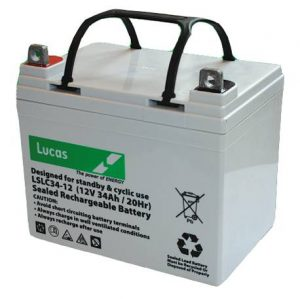 34AH Lucas AGM Lawnmower Battery-0