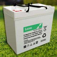 55 AH Lucas Golf Buggy Battery-0