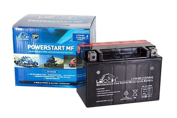 YTX9-BS Leoch Powerstart AGM Motorcycle Battery (LT9-4)-0