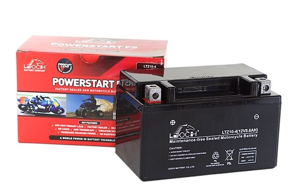 YT12A-4 Leoch Powerstart AGM Motorcycle Battery (LT12A-4)-0