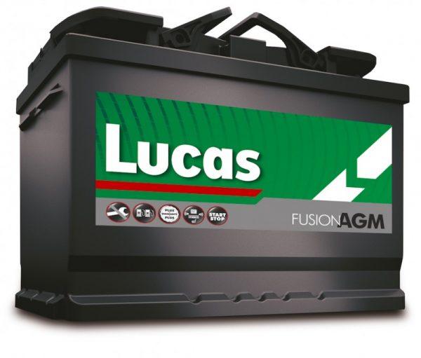 096 Lucas Fusion AGM Stop Start Car Battery (LF096)-0