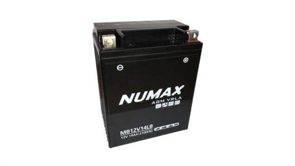 NTS14LA2 Numax AGM Motorcycle Battery (YB14L-A2)-0