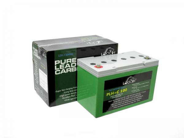 12v 100AH Leoch Pure AGM Lead Carbon PLH+ C100 Deep Cycle Leisure Battery NCC Class A-0