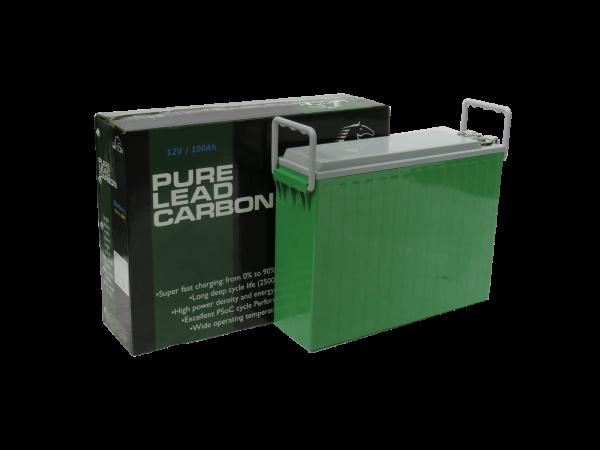 12v 100ah PLH+C 100FT Pure Lead Carbon Solar/Renewable Energy Battery-0