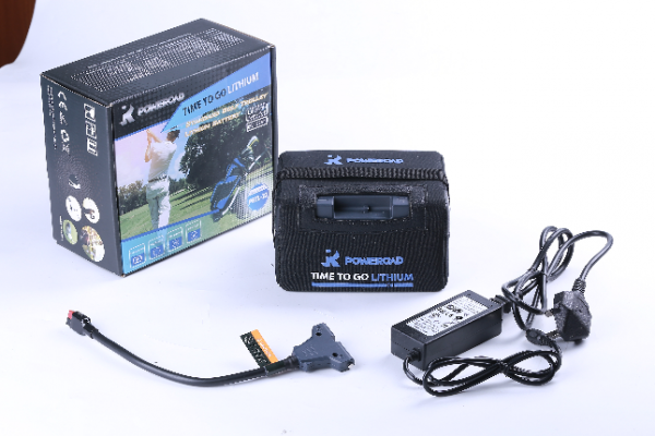 Poweroad 27-36 hole Lithium Golf Trolley Battery, Charger & Bag-0