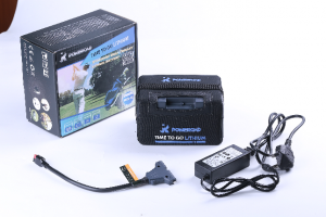 Poweroad 9 -18 Hole Lithium Golf Trolley Battery, Charger & Bag-0