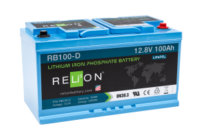 12v 100AH Low Box Relion Lithium ion Battery RB100-D-0