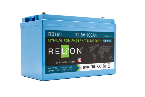 12V 100AH RELION LOW TEMPERATURE LITHIUM ION BATTERY RB100LT-0