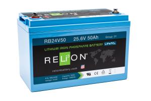24V 50AH Relion Lithium Ion Battery RB24V50-0