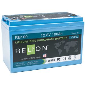 12v 100AH Relion Lithium ion Battery RB100-0