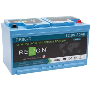 12V 80AH Relion Lithium ion Battery RB80-D-0