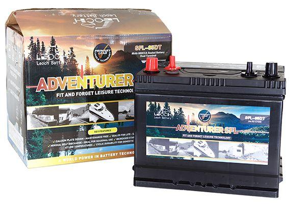 12V 120AH Leoch Adventurer Dual Terminal Leisure Battery (SFL-120DT)-0