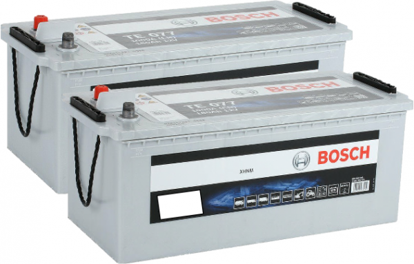 Pair of 625 BOSCH SILVER COMMERCIAL BATTERIES (N9) HDE (T5080)-0