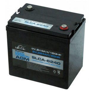 6v Leoch 246ah Agm Superior Lead Carbon Deep Cycle Battery (Slca-6240) (T125)-0