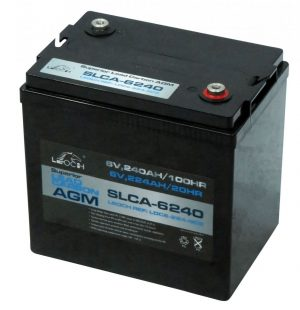6v Leoch 285ah Agm Superior Lead Carbon Deep Cycle Battery (Slca-6285) (T145)-0