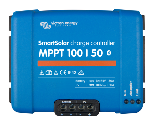 Victron Energy Smart Solar 100/50 MPPT Solar Charge Controller with Bluetooth (12v/24v) 50A - SCC110050210-0