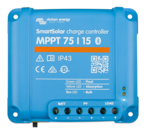 Victron Smart Solar Mppt 75/15 Solar Charger Controller With Bluetooth 12/24v 15a - Scc075015060r-0