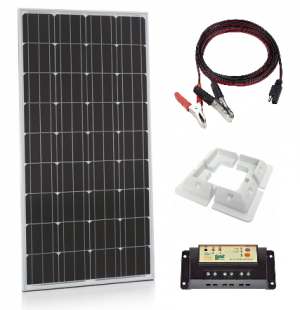 150W Xplorer German Cell Solar Panel PWM Kit-0