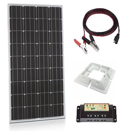 150W Xplorer German Cell Solar Panel PWM Kit-0