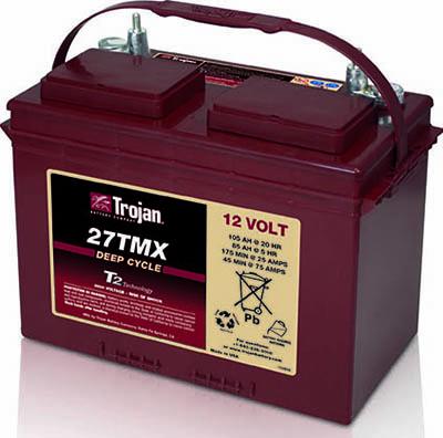 12V 105 AH Trojan Ultra Deep Cycle Leisure Battery-0